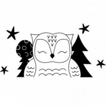 Wild Animal Owl Wandtattoo