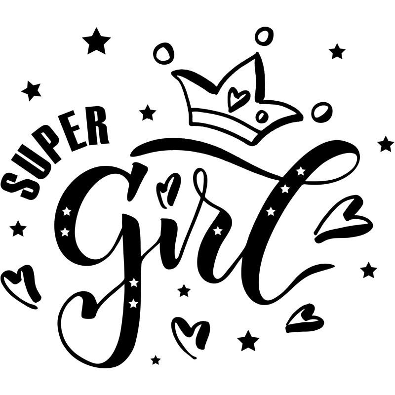 Super Girl Wandtattoo