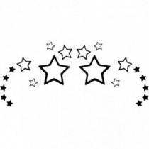 Stars Wave Wandtattoo