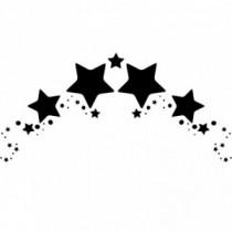 Stars Arc Wandtattoo