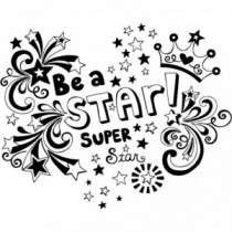 Be A Star Super Star Wandtattoo