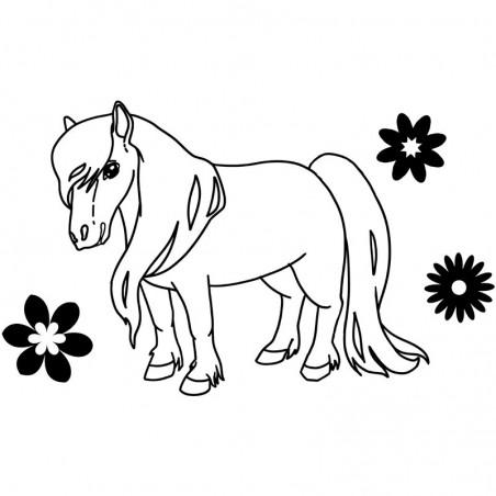 Pony Wandtattoo
