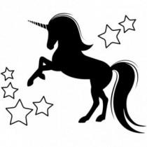 Unicorn Stars Wandtattoo