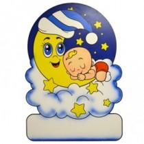 Geburtstafel Wolke Mond Junge
