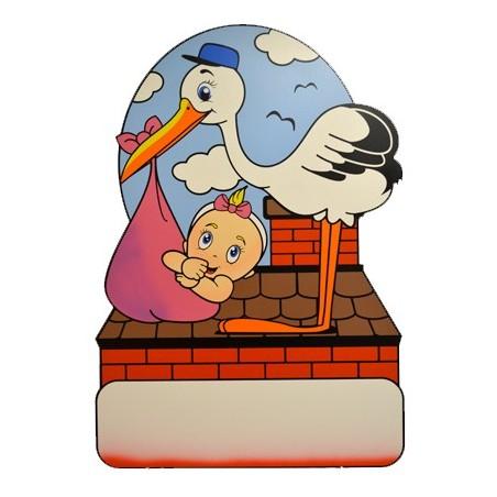 Geburtstafel Storch Girl