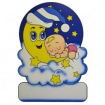 Geburtstafel Wolke Mond Girl