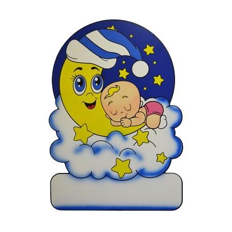 Geburtstafel Wolke Mond Mädchen