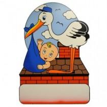 Geburtstafel Storch Boy