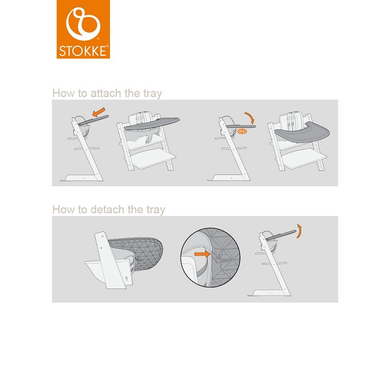 stokke tripp trapp tray storm grey bei. Black Bedroom Furniture Sets. Home Design Ideas