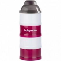 Babymoov Milchpulverspender Milchpulverdose 4 Kammer Cherry