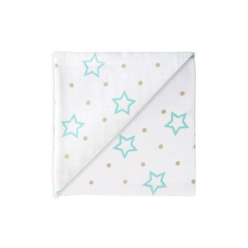 Zewi Gazetuch 120x120 cm White Stars and Points