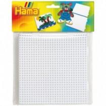 HAMA Bügelperlen Midi 2er Set Stiftplatten im Beutel 2 Multi Quadrate