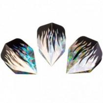 Hudora Ersatzflight Hologramm für Dartpfeil 3 Stück Flame