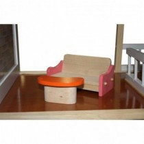 Idena Holzpuppenhaus Aspen mit Möbel