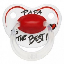 bibi Happiness Nuggi Schnuller Ring Papa ist the Best ab 16 Monate