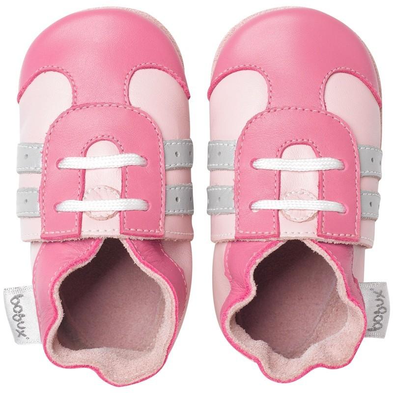 Bobux Krabbelschuhe Soft Sole 15-21 Monate Pink Sport Grösse L