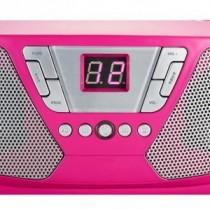 Bigben Tragbarer CD Player Radio Kids pink mit 400 Stickers