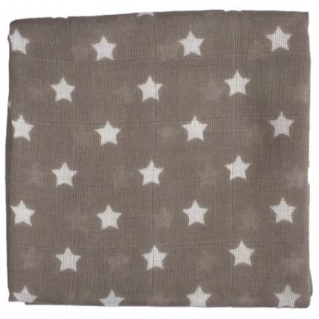 Zewi Baby Gaze Noschi bedruckt Sterne schlamm 08