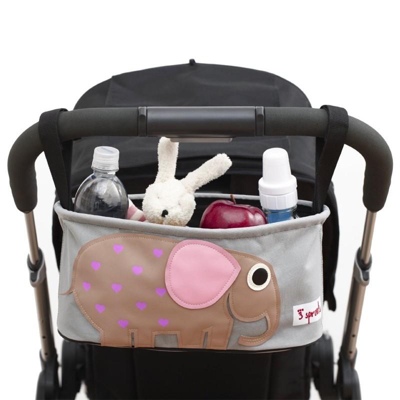 3 Sprouts Stossertasche Kinderwagen-Organizer Elefant