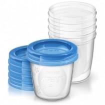 Philips Avent 5 wiederverwendbare Aufbewahrungsbecher für Muttermilch 180ml