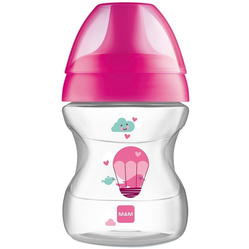 MAM Learn To Drink Cup ab 6 Monate 190ml Pink fly