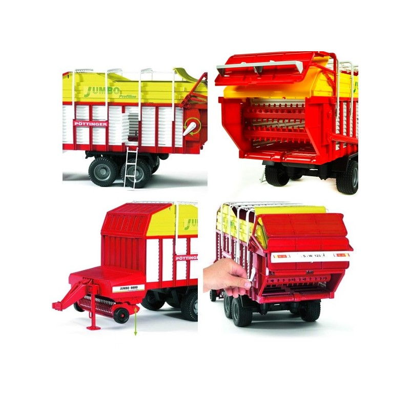 Bruder Pöttinger Jumbo 6600 Profiline Ladewagen 02214