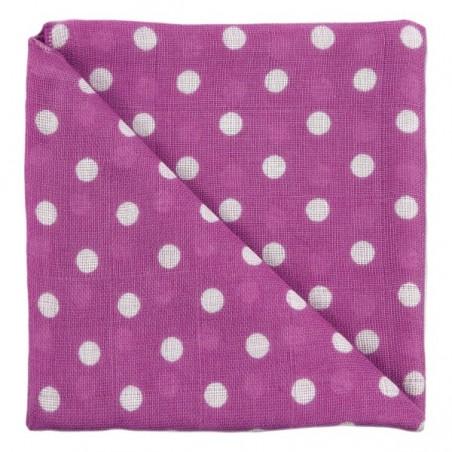 Zewi Baby Gaze Noschi bedruckt Punkte violett 16
