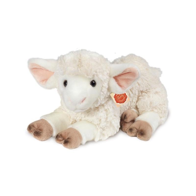 Teddy-Hermann Lamm liegend Plüschtier Stofftier 35cm