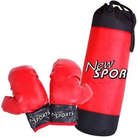 New Sports Boxsack mit Boxhandschuhe