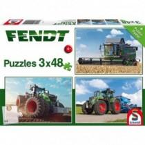 Schmidt Spiele Puzzle 3 x 48 Teile Fendt 1050 Vario / Fendt 724 Vario / Fendt 6275L