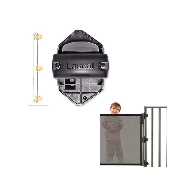 Lascal Kiddy Guard avant Rohrhalterungs-Set Rohrhalterung schwarz für Verschlussleiste (Schliessseite ) 3 Stk.