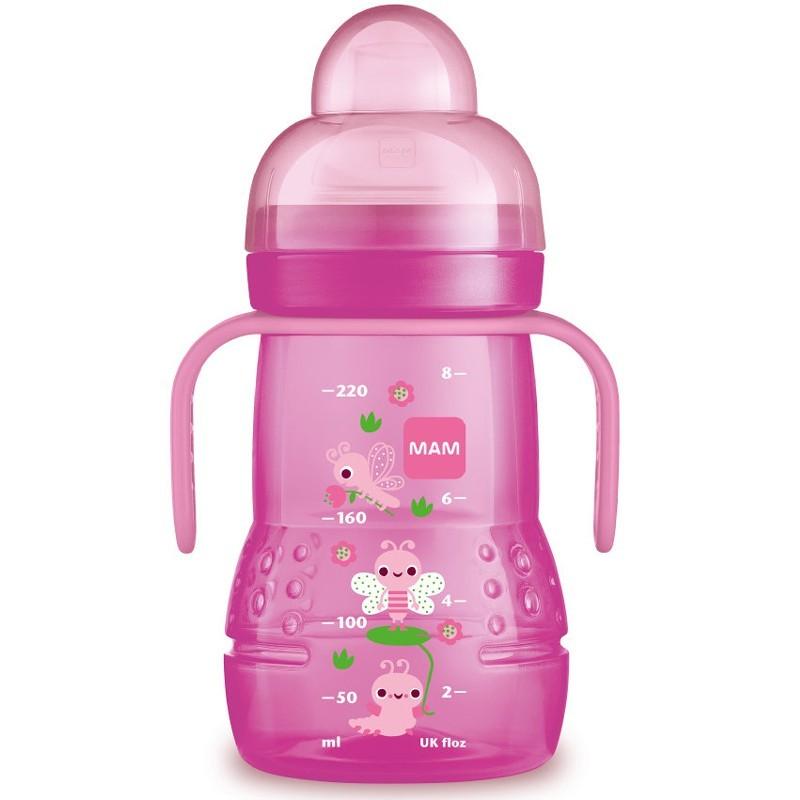 MAM Trinklernflasche Trainer+ ab 4 Monate 220 ml Pink