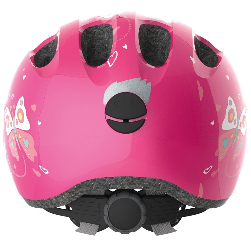 abus kinder fahrradhelm smiley 2 0 pink butterfly gr sse m. Black Bedroom Furniture Sets. Home Design Ideas