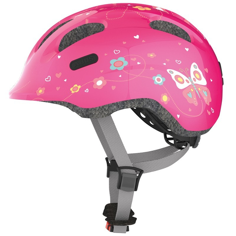 abus kinder fahrradhelm smiley 2 0 pink butterfly gr sse s. Black Bedroom Furniture Sets. Home Design Ideas