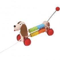 Spielba Nachzieh-Hund mit Zählfunktion