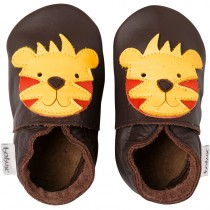 Bobux Krabbelschuhe Soft Sole 15-21 Monate Chocolate Tiger Grösse L
