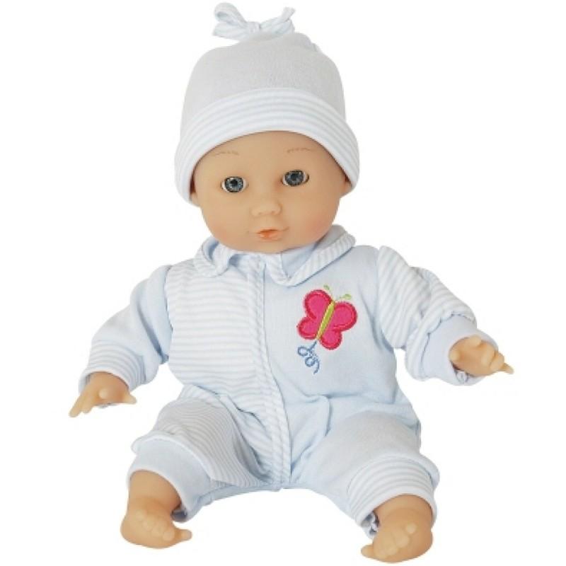 Amia Weichbaby Baby Puppe hellblau 30 cm