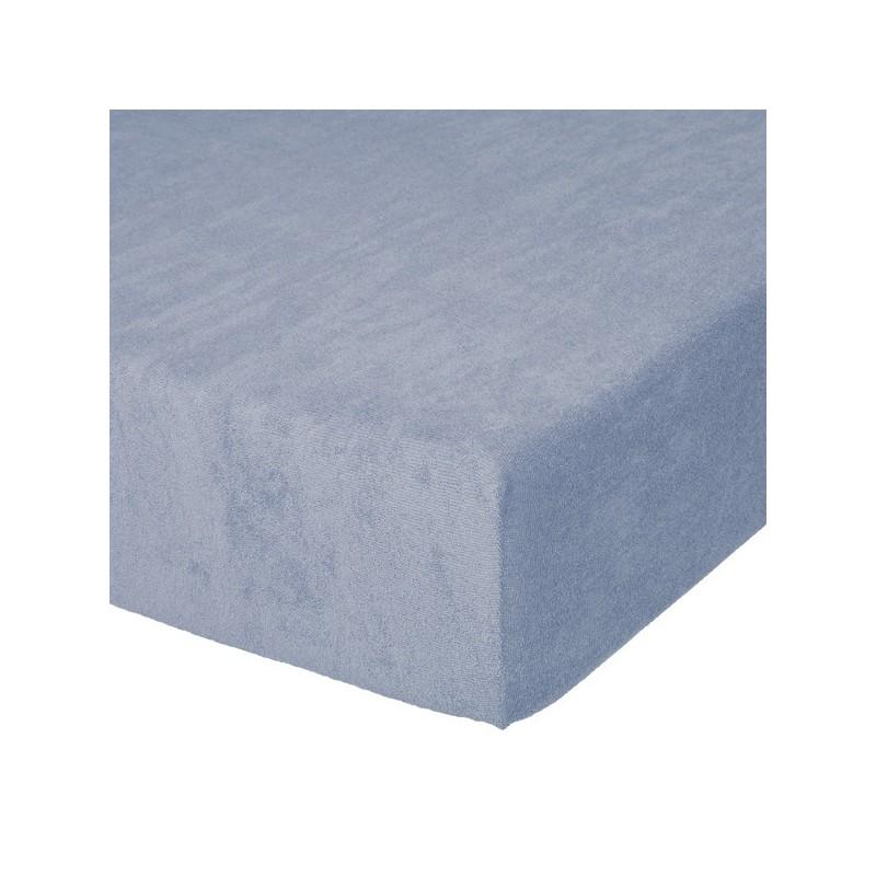 Fixleintuch Spannbetttuch Frottee 70x140 cm Blau 12