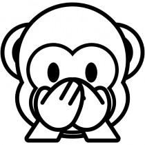Aufkleber little Monkey