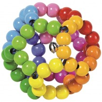 GoKi Greifling Holz Regenbogenball elastisch