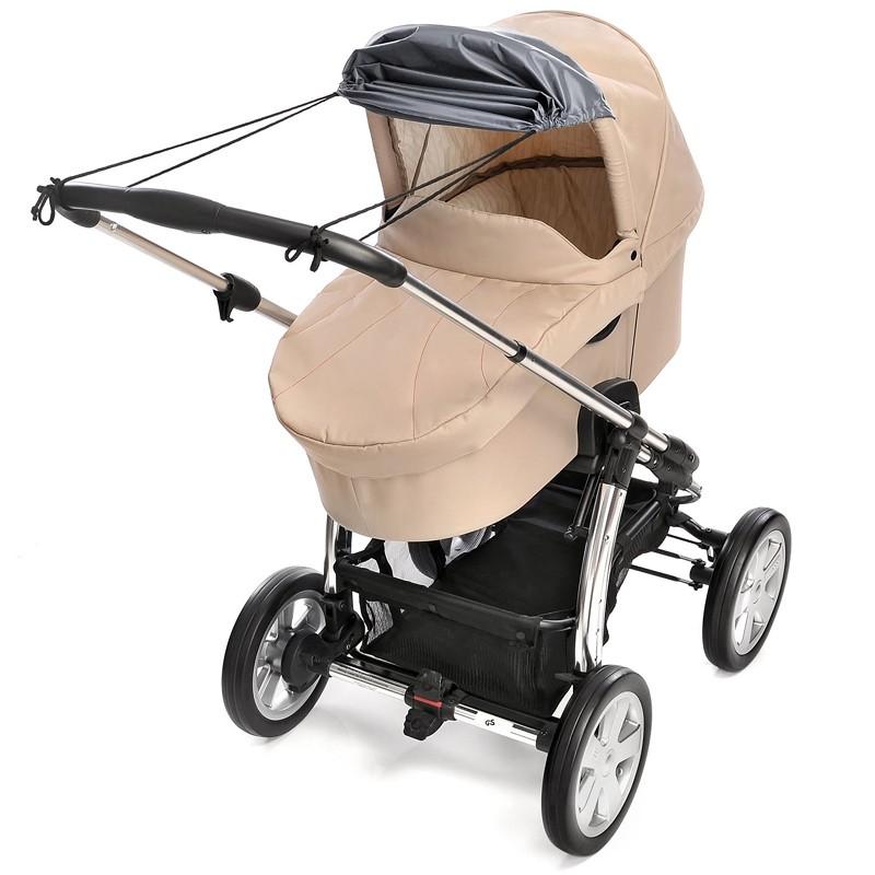 Reer Kinderwagen Sonnensegel Sonnenschutz grau