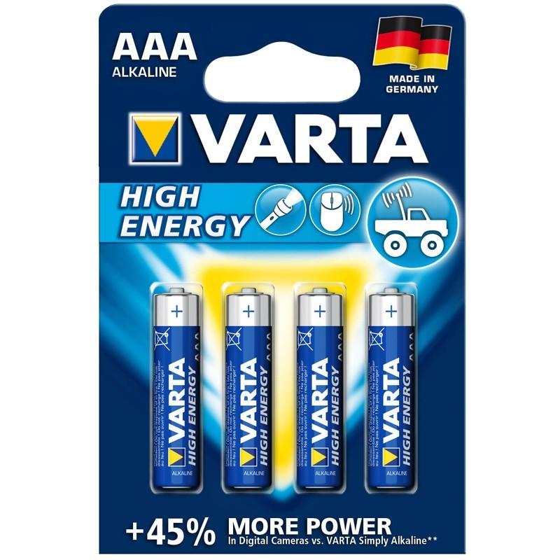 Varta High Energy Micro AAA Batterie 4er Pack