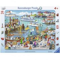 Ravensburger Kinderpuzzle Ein Tag am Hafen 24 Teile