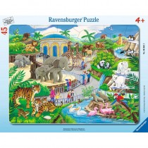 Ravensburger Kinderpuzzle Besuch im Zoo 45 Teile
