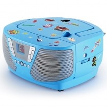 Bigben Tragbarer CD Player Radio Kids blau mit 400 Stickers