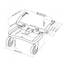 LASCAL Trittbrett BuggyBoard Maxi Rot