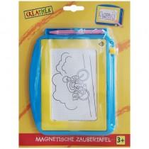 Creathek Maltafel magnetische Zaubertafel 17x13 cm Blau-Gelb
