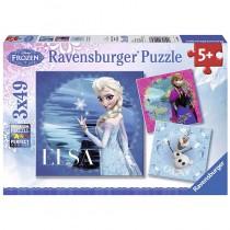 Ravensburger Puzzle Disney Die Eiskönigin Elsa, Anna und Olaf