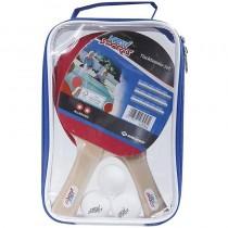 New Sports Tischtennis Set 2 Schläger 3 Bälle