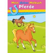 Mein dickes Malbuch Pferde